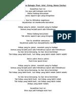 Lirik Lagu - Esok Kan Bahagia