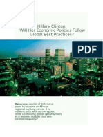 Will Hillary Clinton's Economic Policies Follow Best Global Practice?
