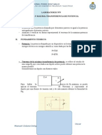 laboratorio de potencia y maxima transferencia