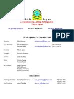 ALAB-Japan Officers 2009 - 2010