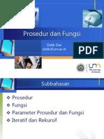 PIF421 04 Prosedur Dan Fungsi