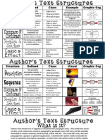 author's text structure anchor chart
