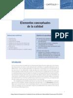 Cap 01 Ortega, ELEMENTOS CONCEPTUALES DE LA CALIDAD