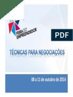 Técnicas Para Negociações SEBRAE PALESTRA RECIFE FEIRA DO EMPREENDEDOR