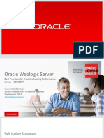 Oracle WebLogic Troubleshooting Performance