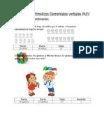 PAEV Problemas Aritmeticos Elementales Verbales (2)