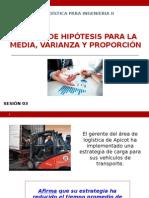 2.1 _Prueba de Hipótesis Para La Media, Varianza y Proporción
