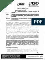 Circular No. 009 Enero 21 de 20151-DGRD y CMDRD