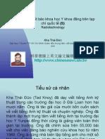 Vietnam 2.52:Tổ chức lớp viết báo khoa học Y khoa đăng trên tạp chí quốc tế (5)