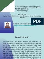 Vietnam 2.54:Tổ chức lớp viết báo khoa học Y khoa đăng trên tạp chí quốc tế (7)