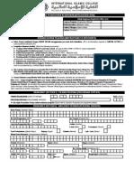Application Form IIC 2008