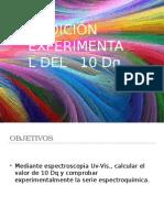 Medición experimental del 10Dq (química coordinación)