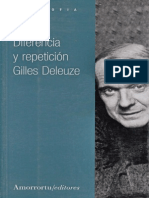 Gilles Deleuze Diferencia y Repeticion