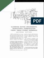 INFO - Classroom Seating Arrangement - James C. McCorskey