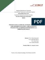 """Propuesta para el Diseño del software """"maxeficience"""" como Herramienta Ecológica y Simplificadora de Procesos para las empresas pertenecientes a la Administración Pública"""