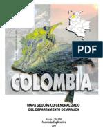 Memoria Explicativa. Mapa Geologico Del Departamento de Arauca. 2001