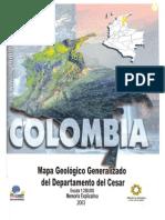 Memoria Explicativa. Mapa Geologico Del Departamento de Cesar. 2003