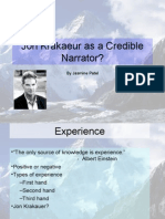 Jon Krakaeur as a Credible Narrator
