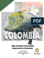 Memoria Explicativa. Mapa Geologico Del Departamento de Santander. 2001