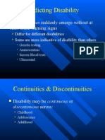 Disabilities in Development lecture