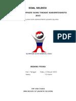 Soal Seleksi OSN Fisika 2015