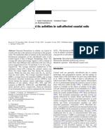 La Biomasa Microbiana y Sus Actividades en Los Suelos Costeros Afectados Por La Salinidad