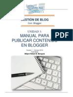 Manual Para Publicar Contenido en Blogger