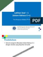 KU1072 W007a LatihanSoal1 CPP