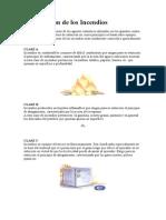 Clasificación de los Incendios.doc