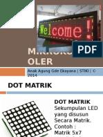 Mikrokontroler Bahan Dot Matrik