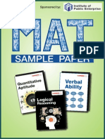 MAT Solved Paper