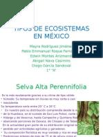 TIPOS DE ECOSISTEMAS EN MÉXICO equipo 1, 1° A