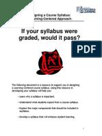 Designing a Course Syllabus 0