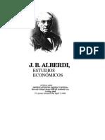 Alberdi PÓSTUMOS I Estudios Económicos