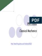 Chapter 2( Classical Mechanics)