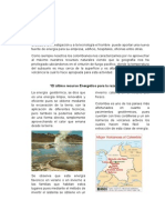 Artículo Energía Geotérmica