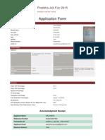 Summary of form