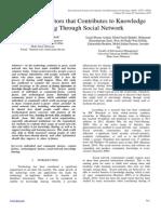 Knowledge Sharing Through Social Network IJCIT 2013