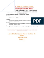 Apostila Banco Central Bacen 2010 Concurso Publico