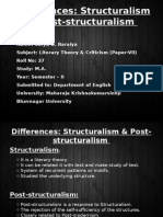 Differencestructuralismpost Structuralism 140312230100 Phpapp01