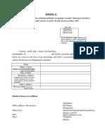 Format of Gazette Certificate