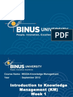 Knowledge Management Binus