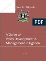 A Guide to Policy Development Management in Uganda