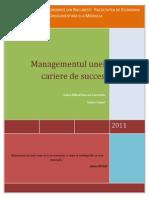 Managementul Unei Cariere de Succes