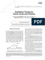 Biochemical tests for Protein - Frank Milio