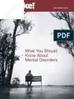 What You Should Know About Mental Disorders
