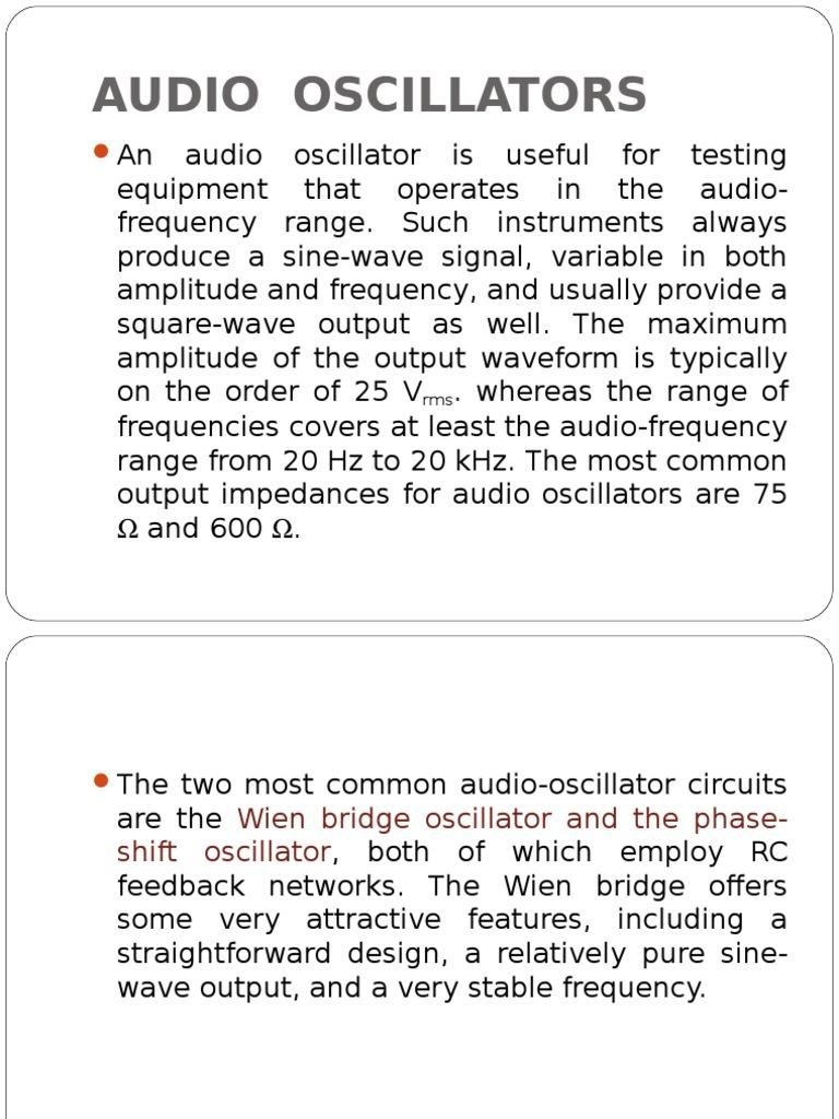 66 15575 Ec410 2014 1 2 Lecture Electronic Oscillator Audio Oscillators Amplifier