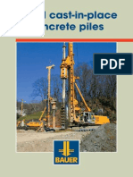 BAUER Bored Cast-In-place Concrete Piles