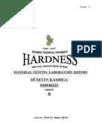 Hardness Experiment Report