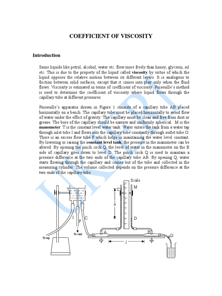 Fluid viscosity Methods for determining fluid viscosity 34